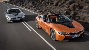 BMW i8 and i8 Roadster - front