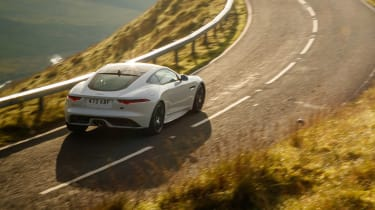 Jaguar F-Type Chequered Flag - rear action