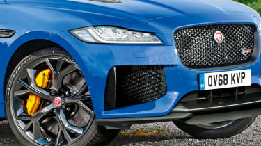Jaguar F-Pace SVR - front detail (watermarked)