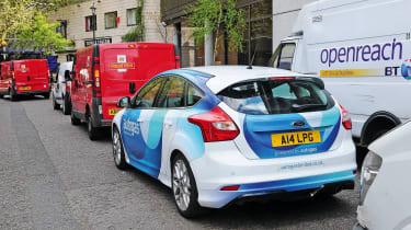 Autogas Ford Focus - rear traffic