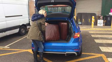 Audi RS3 boot loading