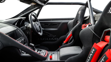 Jaguar F-Type rally car - cabin
