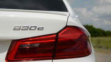 BMW 530e - rear badge