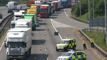 Motorway lane closure