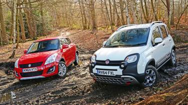 Fiat Panda Cross vs Suzuki Swift 4x4 - header