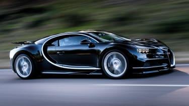 Bugatti Chiron 2016 - Side Profile Black