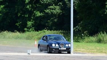Jaguar S Type crash