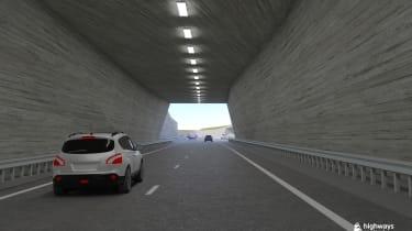 Stonehenge tunnel - tunnel exit