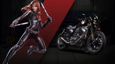 Harley Davidson Marvel Super Hero Customs - Black Widow Uncompromising
