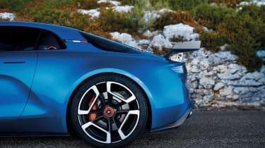 Renault Alpine Vision concept - blue car rear