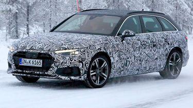 Audi A4 Avant spies - front