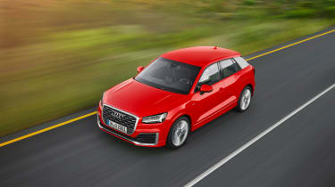 Audi Q2 red front side high