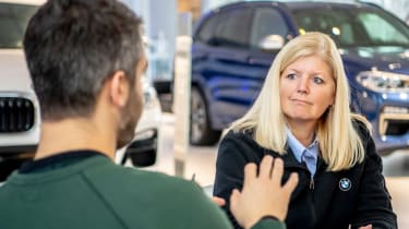 BMW SUVs feature - Rich interviewing Sherry McCraw