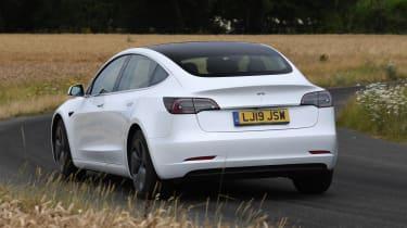 Tesla Model 3 - rear cornering