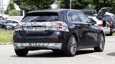 New 2022 Mercedes A-Class facelift - rear