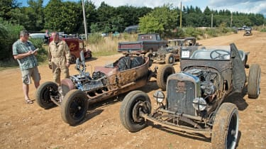 There's plenty of action at Bisley Camp – organisers call it a 'moving art show'.