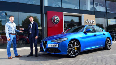 Long-term test review: Alfa Romeo Giulia Veloce - front