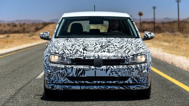 New Volkswagen Polo 2017 prototype nose