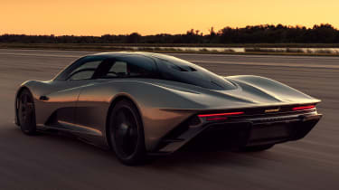 McLaren Speedtail - runway testing - rear tracking