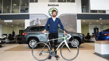 Skoda Kodiaq Bradley Wiggins - bike