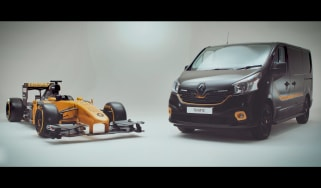 Renault Trafic van sponsored