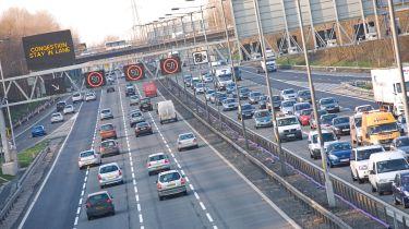 M6 motorway traffic
