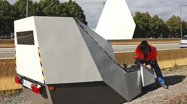 Vitronic Enforcement Trailer speed camera operator
