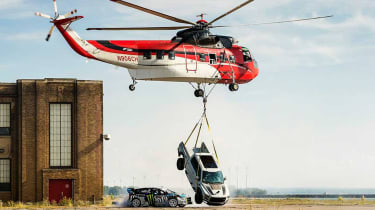 Ken Block Gymkhana - 9 helicopter