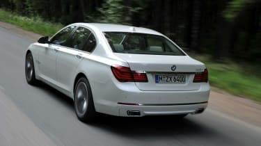 BMW 750i rear action
