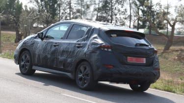 Nissan Leaf 2018 spy shot rear quarter