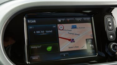 Triple test –Renault Twingo - infotainment screen