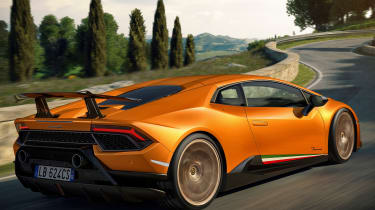 Lamborghini Huracan Performante - rear cornering