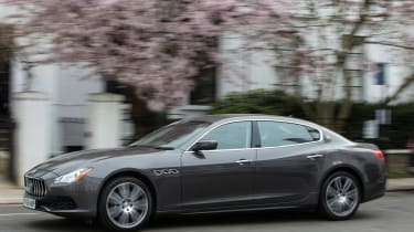 How to be a chauffeur - Maserati Quattroporte front
