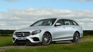 Mercedes E-Class Estate E220d UK - front quarter