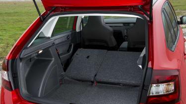 Skoda Rapid Spaceback boot - seats down