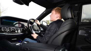 Mercedes S 560 e - James Brodie driving