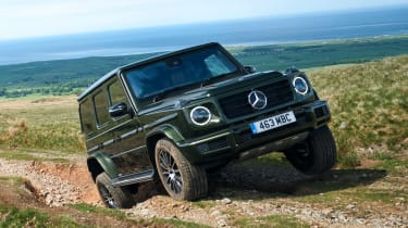 Mercedes G 350 d - front tracking off road