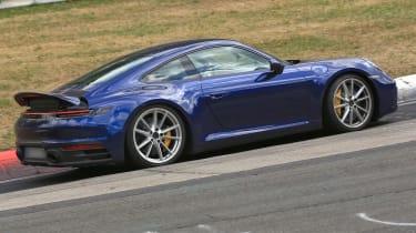New Porsche 911 blue spoiler rear