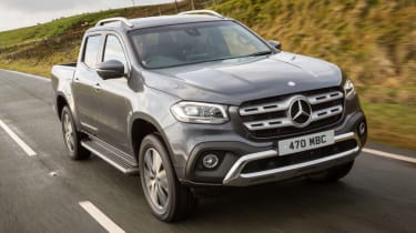 Mercedes X-Class review - front quarter