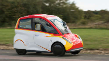 Shell Project M city car - front cornering