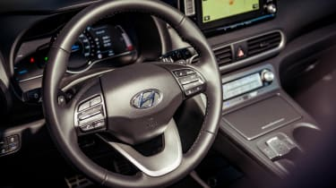 Hyundai Kona Electric - steering wheel