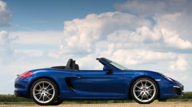 Porsche Boxster -blue side static