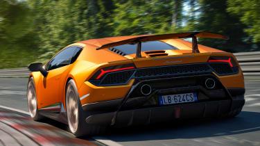 Lamborghini Huracan Performante - rear track cornering