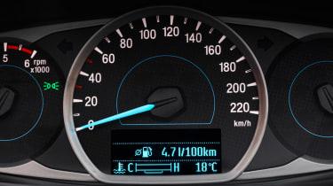 Ford Ka+ - dials