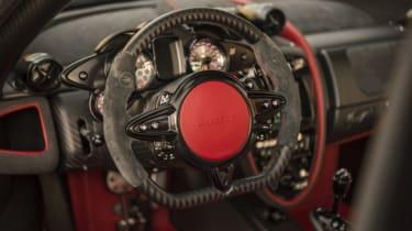 Pagani Huayra BC steering wheel