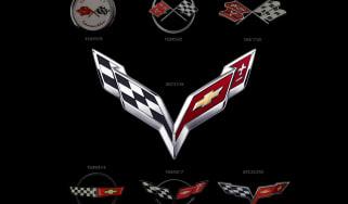 2014 Chevrolet Corvette crossed flags logo