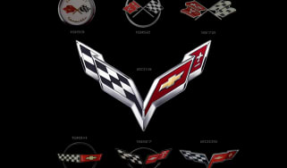 2014 Chevrolet Corvette crossed flags logo