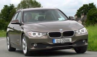 BMW 316d front cornering