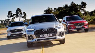 Audi Q5 vs Hyundai Santa Fe vs Volvo XC60