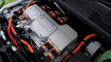 Renault Fluence Z.E. under the bonnet